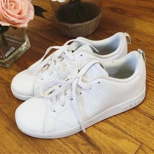 Adidas Neo white leather shoes